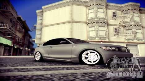 BMW 135i для GTA San Andreas вид сзади слева