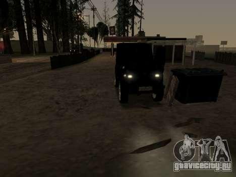 УАЗ 469 для GTA San Andreas вид изнутри