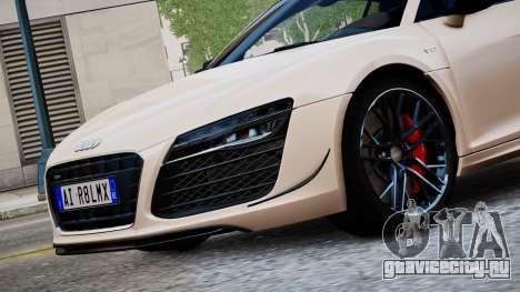 Audi R8 LMX 2015 EPM для GTA 4 вид сзади слева