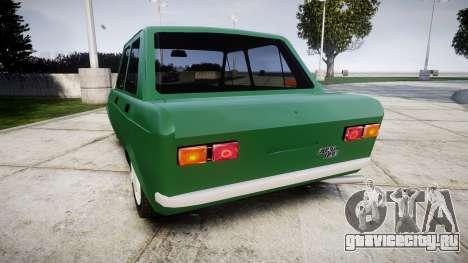 Fiat 128 Berlina для GTA 4 вид сзади слева