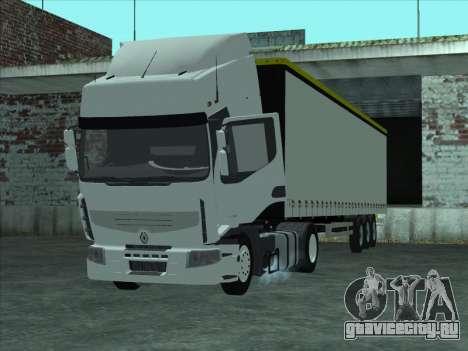 Renault Premium для GTA San Andreas вид сзади слева