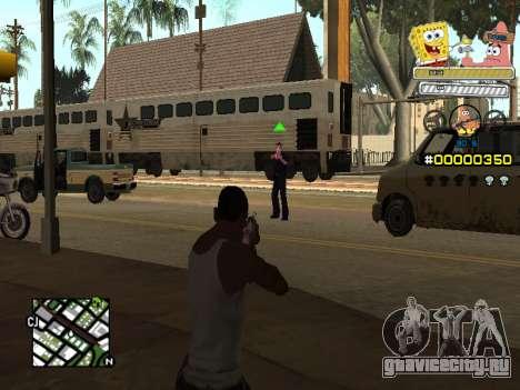 C-HUD Sponge Bob для GTA San Andreas третий скриншот