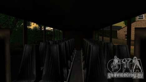 Coach с 3D интерьером для GTA San Andreas вид сзади слева