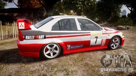 Mitsubishi Lancer Evolution VI Rally Edition для GTA 4 вид слева