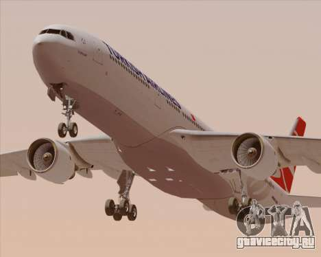 Airbus A330-300 Turkish Airlines для GTA San Andreas двигатель