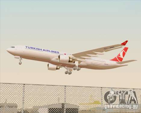 Airbus A330-300 Turkish Airlines для GTA San Andreas колёса