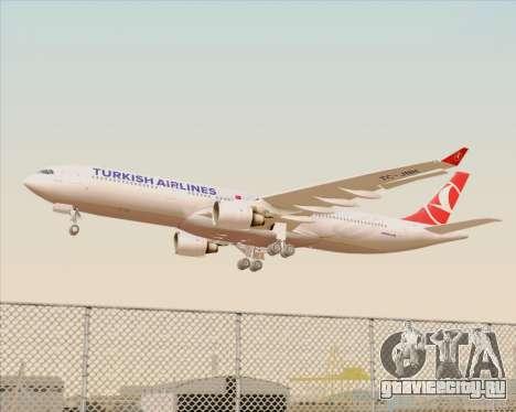 Airbus A330-300 Turkish Airlines для GTA San Andreas колёса