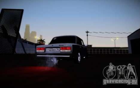 ВАЗ 2107 для GTA San Andreas вид снизу