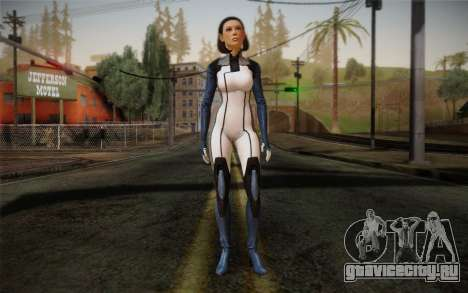 Dr. Eva Core New face from Mass Effect 3 для GTA San Andreas