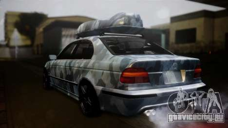 BMW M5 E39 Camouflage для GTA San Andreas вид слева