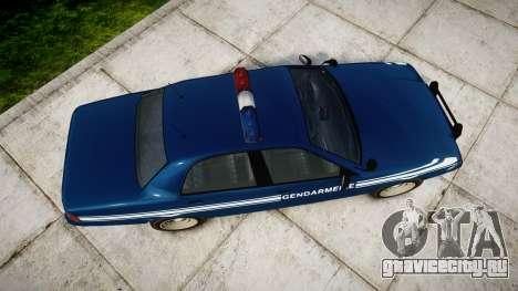 GTA V Vapid Police Cruiser Gendarmerie1 для GTA 4 вид справа