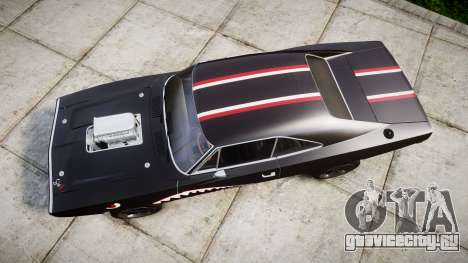 Dodge Charger RT 1970 Shark для GTA 4 вид справа