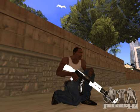 White Chrome Gun Pack для GTA San Andreas пятый скриншот