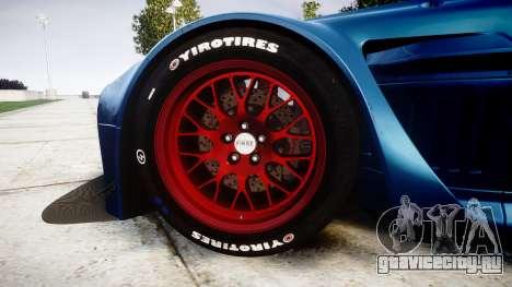 Aston Martin V12 Vantage GT3 2012 для GTA 4 вид сзади