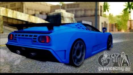Bugatti EB110SS для GTA San Andreas вид слева