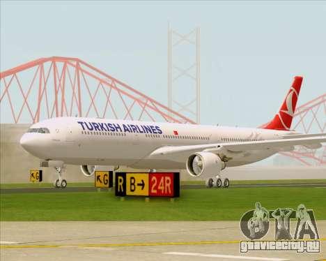 Airbus A330-300 Turkish Airlines для GTA San Andreas вид слева