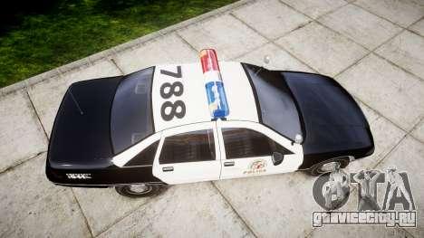 Chevrolet Caprice 1991 LAPD [ELS] Patrol для GTA 4 вид справа