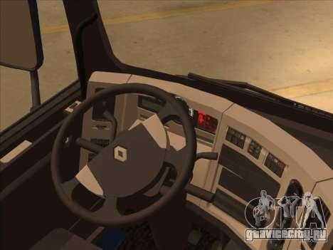Renault Premium для GTA San Andreas вид изнутри