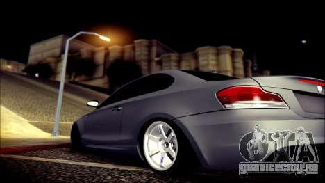 BMW 135i для GTA San Andreas вид снизу
