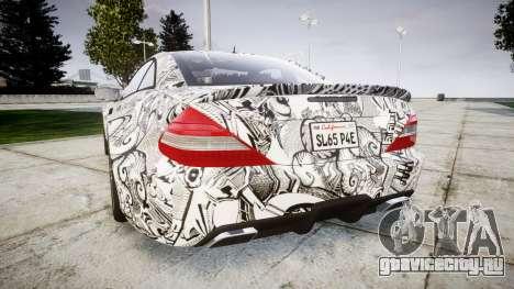 Mersedes-Benz SL65 AMG 2009 Sharpie для GTA 4 вид сзади слева