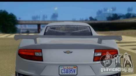 GTA 5 Dewbauchee Massacro IVF для GTA San Andreas вид сзади слева