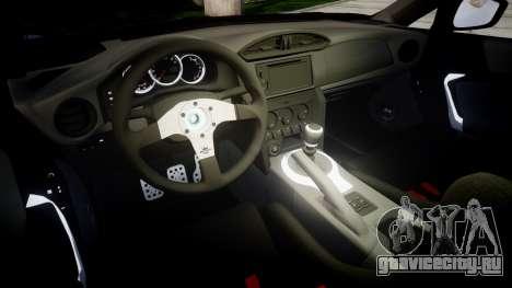 Subaru BRZ 2011 Sharpie для GTA 4 вид изнутри
