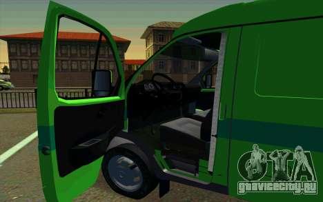 ГАЗель 2705 ПриватБанк для GTA San Andreas вид сзади слева