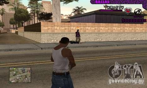 Ballas C-HUD для GTA San Andreas