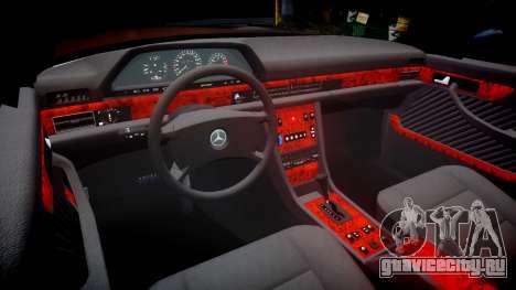 Mercedes-Benz 560SEL W126 для GTA 4 вид изнутри