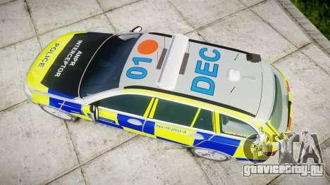BMW 525d F11 2014 Police [ELS] для GTA 4 вид справа