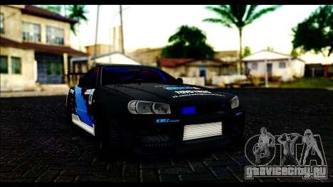 Nissan Skyline GT-R 34 Toyo Tires для GTA San Andreas