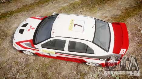 Mitsubishi Lancer Evolution VI Rally Edition для GTA 4 вид справа