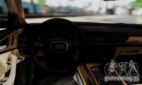 Audi A6 (C7) для GTA San Andreas вид сзади слева