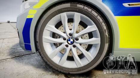 BMW 525d F11 2014 Police [ELS] для GTA 4 вид сзади