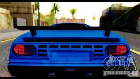 Bugatti EB110SS для GTA San Andreas вид сзади
