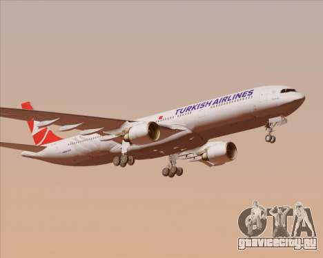 Airbus A330-300 Turkish Airlines для GTA San Andreas вид сверху