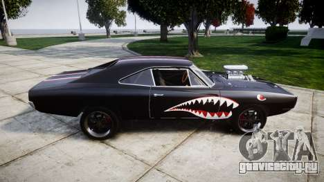 Dodge Charger RT 1970 Shark для GTA 4 вид слева