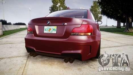 BMW 1M 2011 для GTA 4 вид сзади слева