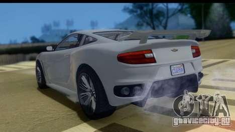 GTA 5 Dewbauchee Massacro IVF для GTA San Andreas вид слева