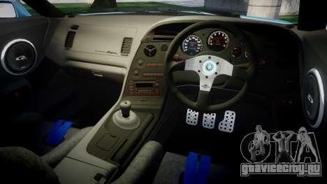 Toyota Supra 1998 Sharpie для GTA 4 вид изнутри