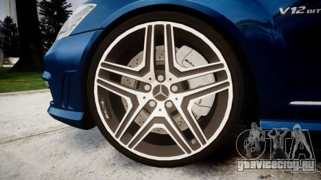 Mercedes-Benz S65 W221 AMG v2.0 rims2 для GTA 4 вид сзади