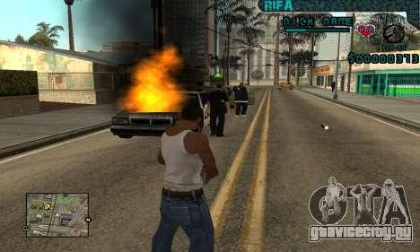 C-HUD Rifa Gang для GTA San Andreas четвёртый скриншот