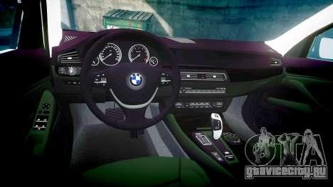 BMW 525d F11 2014 Police [ELS] для GTA 4 вид изнутри