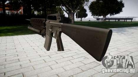 Винтовка M16A2 M203 sight2 для GTA 4 второй скриншот