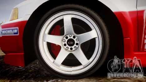 Mitsubishi Lancer Evolution VI Rally Edition для GTA 4 вид сзади