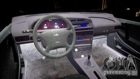 ВАЗ-2114 для GTA 4 вид изнутри