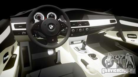 BMW M5 E60 v2.0 Wald rims для GTA 4 вид изнутри