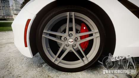 Chevrolet Corvette Stingray C7 2014 для GTA 4 вид сзади