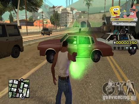 C-HUD Sponge Bob для GTA San Andreas пятый скриншот