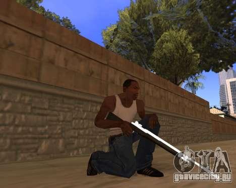 White Chrome Gun Pack для GTA San Andreas шестой скриншот